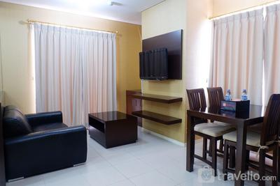 2BR Cosmo Terrace Apartment with Direct Access to Thamrin City Mall By Travelio