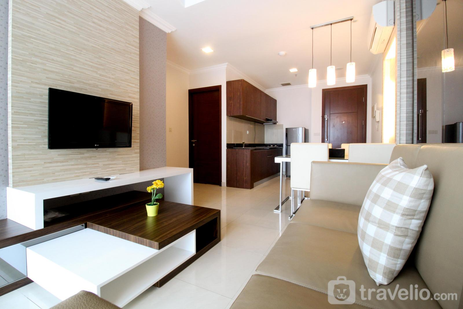 Denpasar Residence Kuningan - 2BR Denpasar Residence Apartment with Direct Access to Mall Kuningan City By Travelio