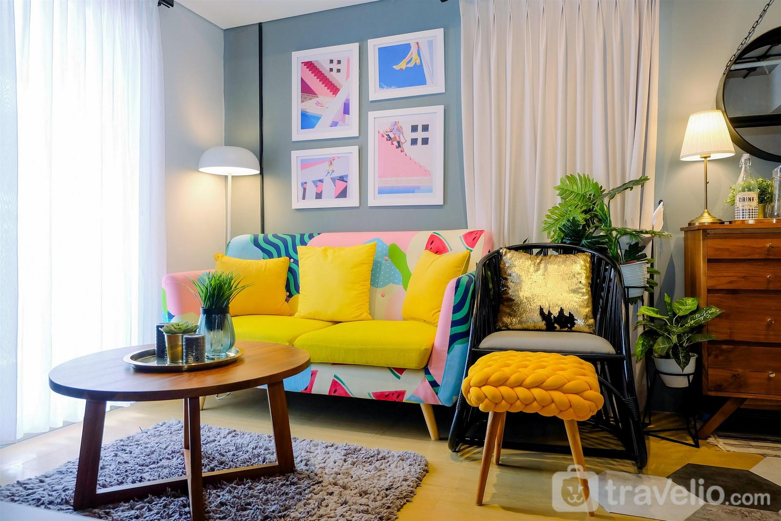 Pakubuwono Terrace Ciledug - Modern and Stylish 2BR Pakubuwono Terrace Apartment By Travelio