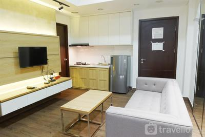 Modern and Homey 2BR Saveria Apartment near ICE BSD By Travelio